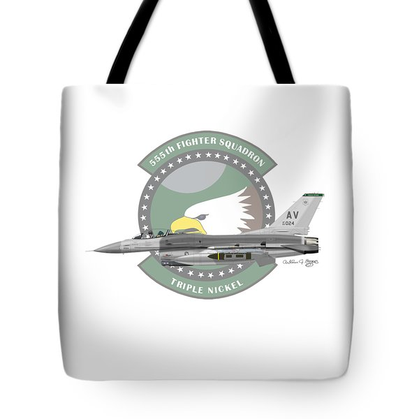 Lockheed Martin F-16c Viper Tote Bag by Arthur Eggers