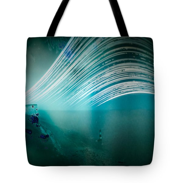 6 Month Exposure Overlooking The Beachy Head Lighthouse Tote Bag