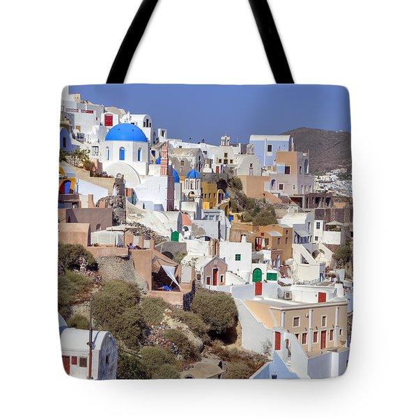 Oia - Santorini Tote Bag by Joana Kruse