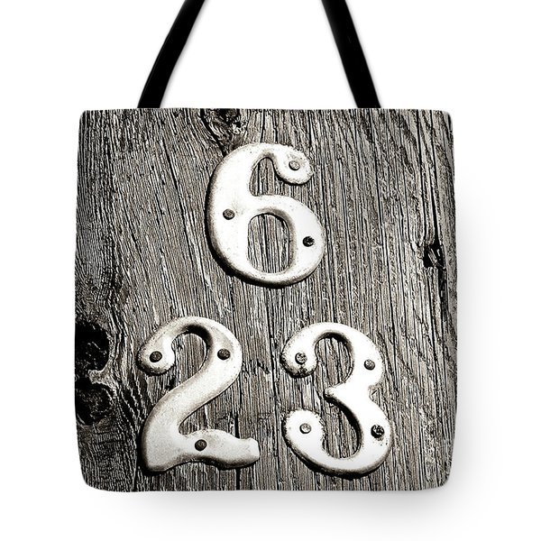 6 Over 23 Tote Bag
