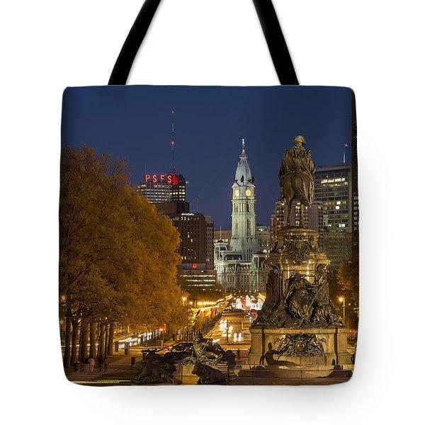 Philadelphia Skyline Tote Bag by John Greim