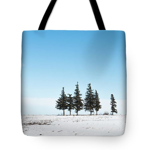 6 Pines And The Moon Tote Bag