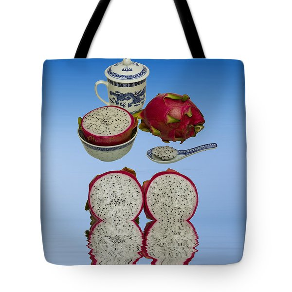 Tote Bag featuring the photograph Pink Dragon Fruit  by David French
