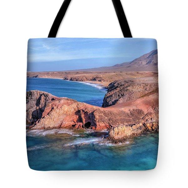 Playa Papagayo - Lanzarote Tote Bag by Joana Kruse