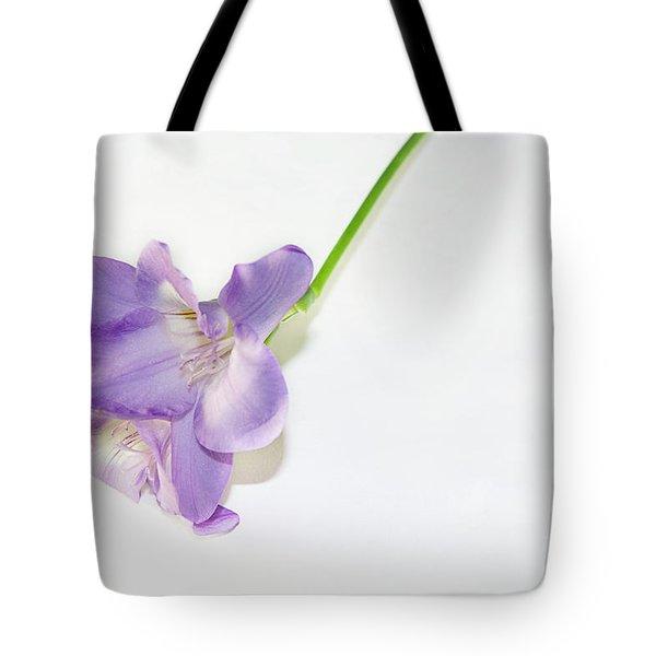 Purple Freesia Tote Bag