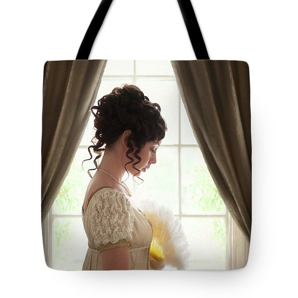 Regency Woman At The Window Tote Bag