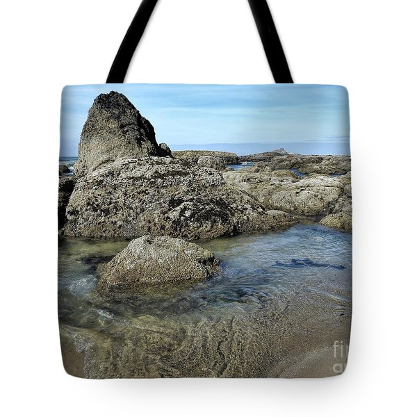 Tote Bag featuring the photograph Roads End by Peggy Hughes