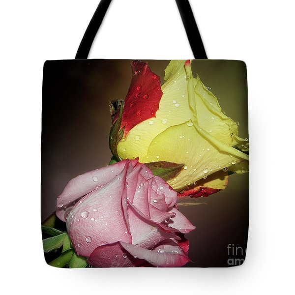 Tote Bag featuring the photograph Roses by Elvira Ladocki