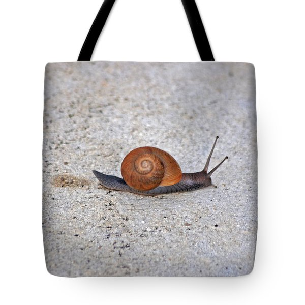 Tote Bag featuring the photograph 6- Snail by Joseph Keane