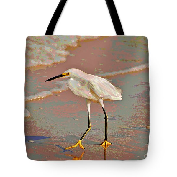 Tote Bag featuring the photograph 6- Snowy Egret by Joseph Keane