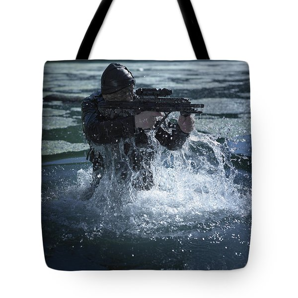 Special Operations Forces Soldier Tote Bag by Tom Weber
