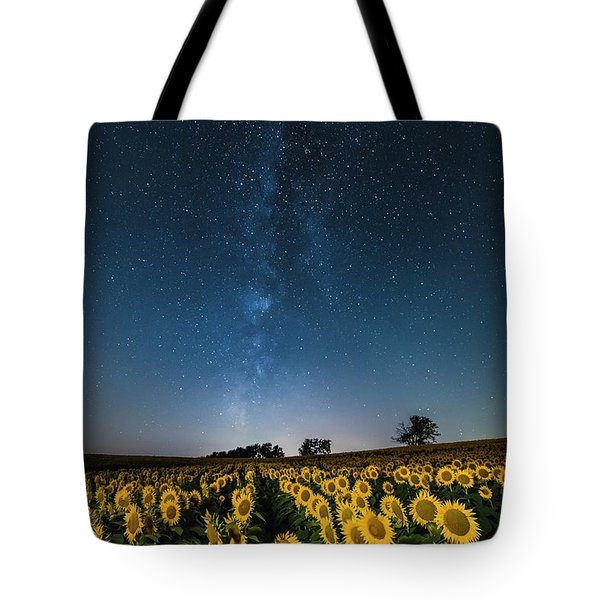 Sunflower Galaxy Tote Bag