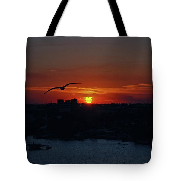 Tote Bag featuring the photograph 6- Sunset by Joseph Keane