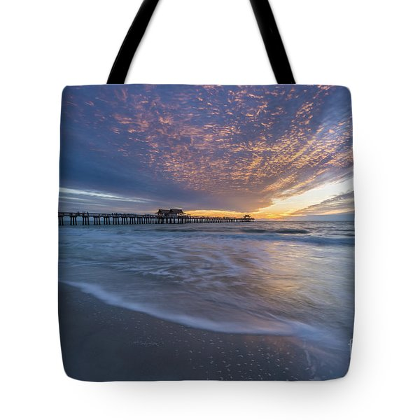 Sunset Naples Pier Florida Tote Bag