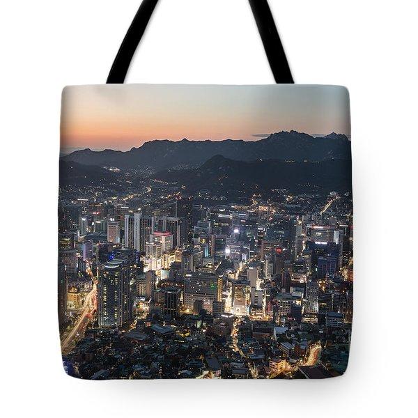 Sunset Over Seoul Tote Bag