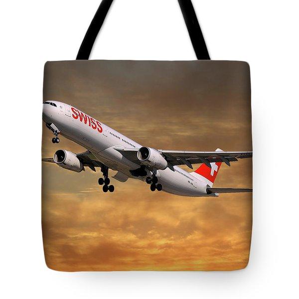 Swiss Airbus A330-343 Tote Bag