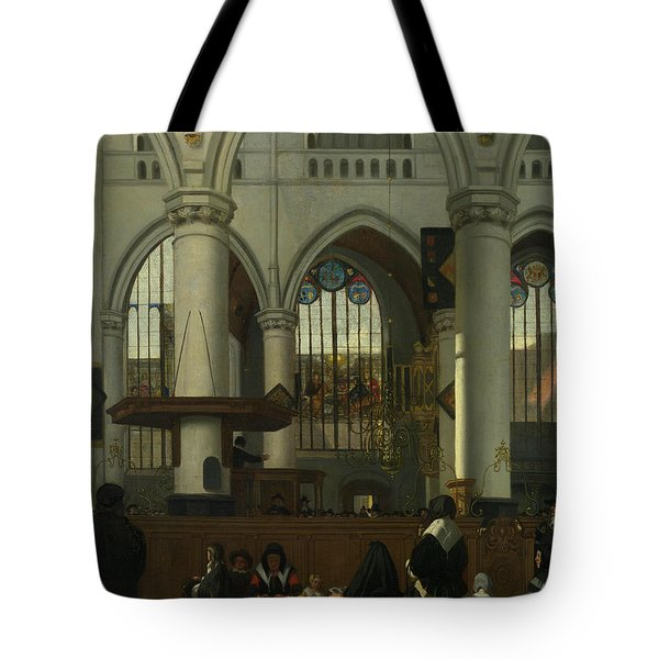 The Interior Of The Oude Kerk, Amsterdam Tote Bag