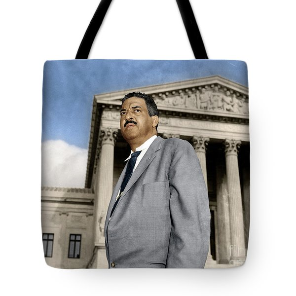 Tote Bag featuring the photograph Thurgood Marshall by Granger
