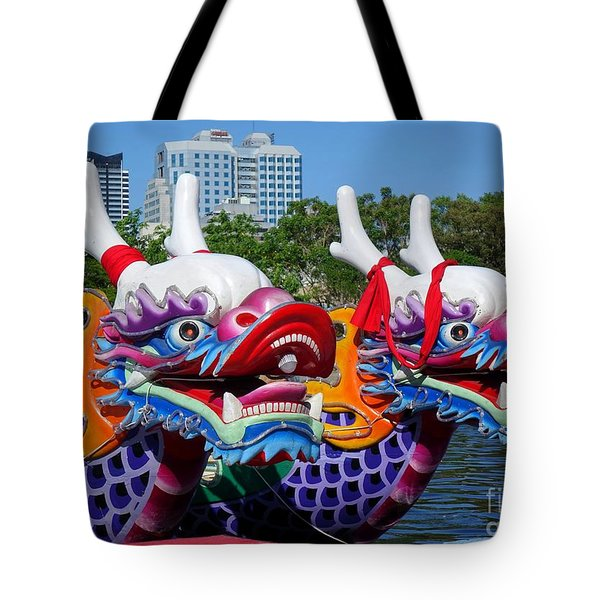 Traditional Dragon Boats In Taiwan Tote Bag