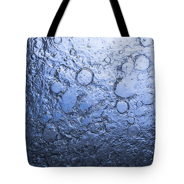 Water Abstraction - Blue Tote Bag by Alex Potemkin