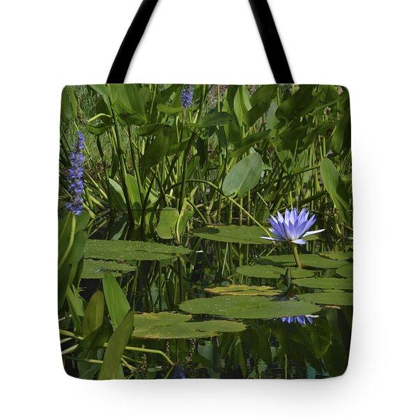 Water Lilies Tote Bag by Linda Geiger