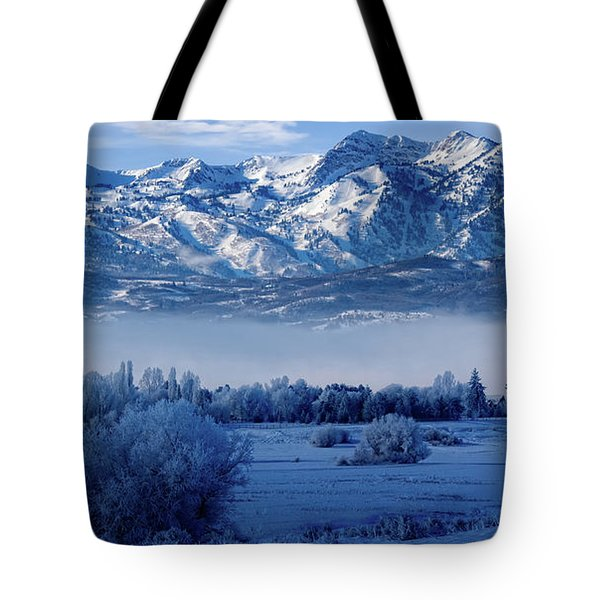 Winter In The Wasatch Mountains Of Northern Utah Tote Bag