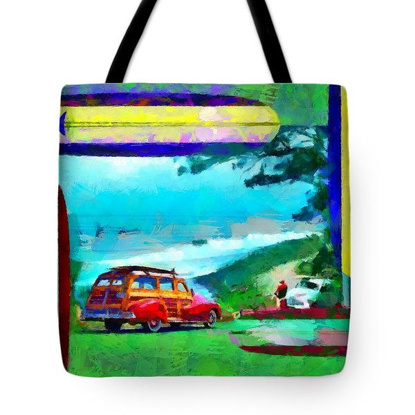 60's Surfing Tote Bag