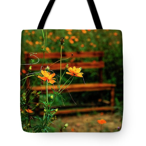 Galsang Flowers In Garden Tote Bag