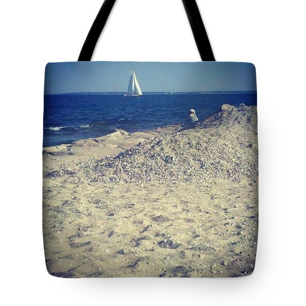 Cape Cod Scene Tote Bag