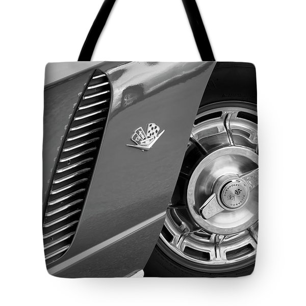 Tote Bag featuring the photograph '62 In Black And White by Dennis Hedberg