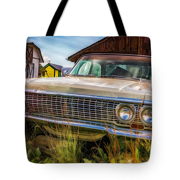 Tote Bag featuring the photograph 63 Impala by Bitter Buffalo Photography