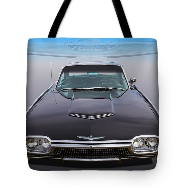 Tote Bag featuring the photograph 63 Tbird by Keith Hawley
