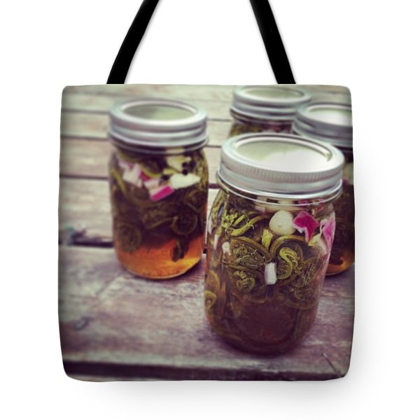 Pickled Fiddleheads  Tote Bag
