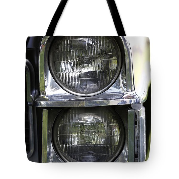 65 Caddy Headlights Tote Bag