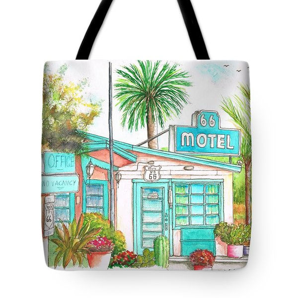 66 Motel In Needles, California Tote Bag