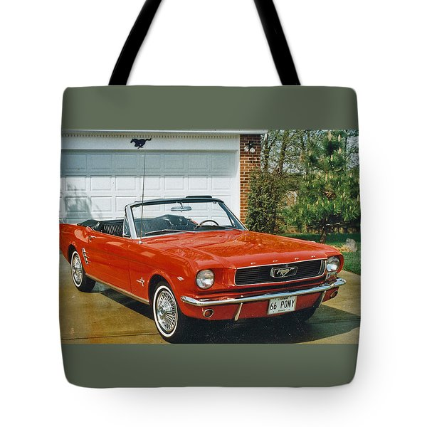 66 Mustang Convertable Tote Bag