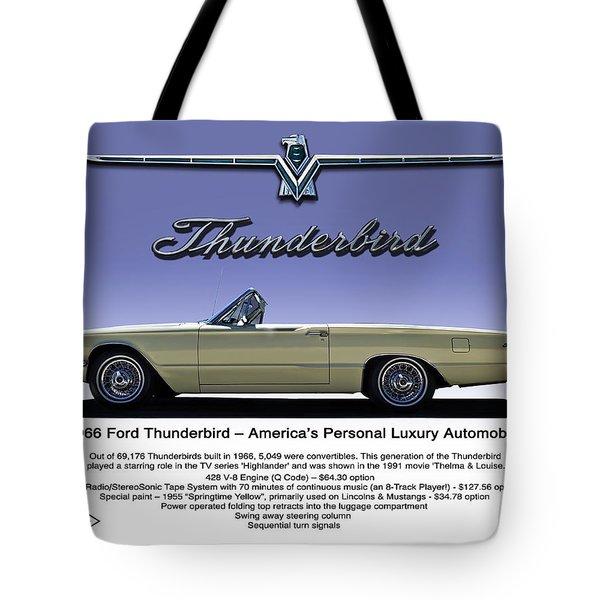 '66 Thunderbird Convertible Tote Bag