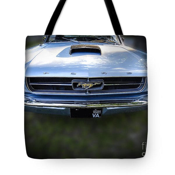 Tote Bag featuring the photograph 67 Vintage Ford Mustang by Melissa Messick
