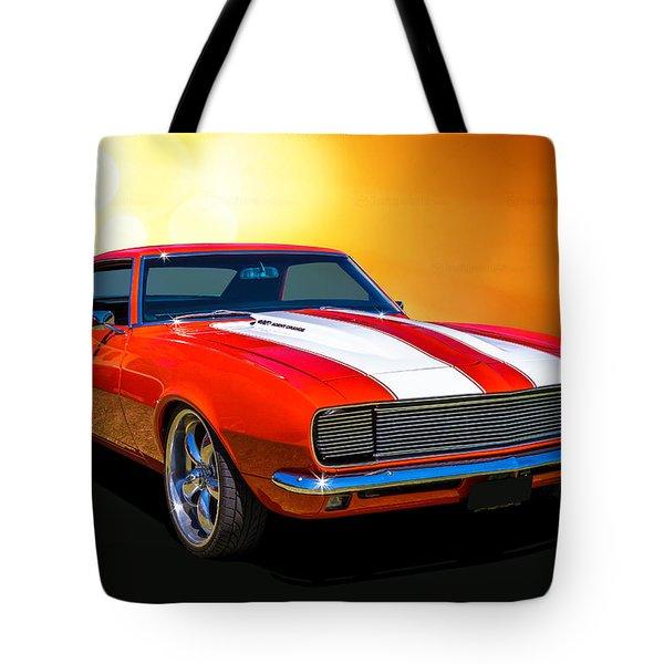 68 Camaro Tote Bag by Keith Hawley