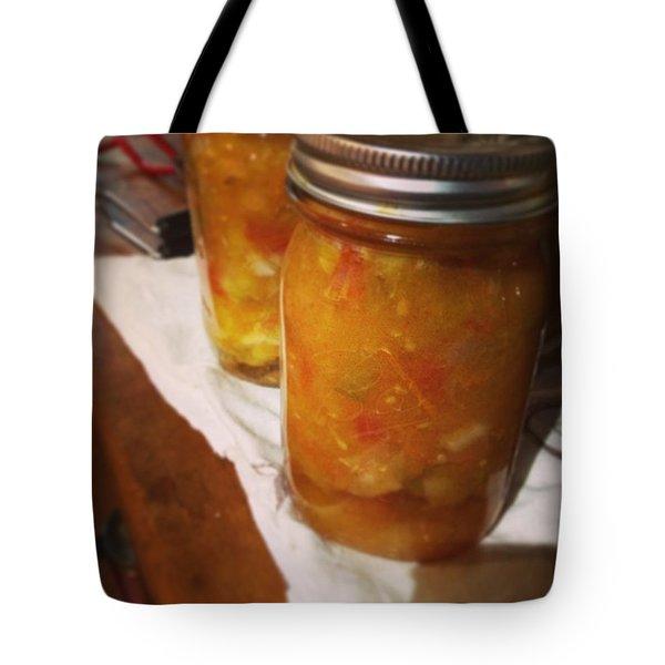 Peach Salsa Tote Bag