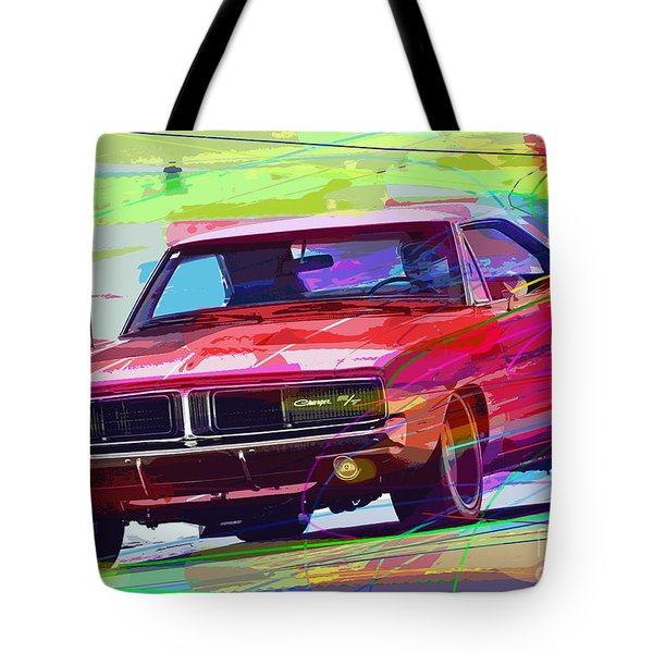 69 Dodge Charger  Tote Bag