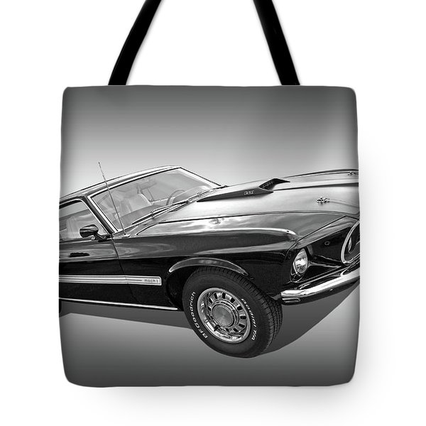 69 Mach1 In Black And White Tote Bag