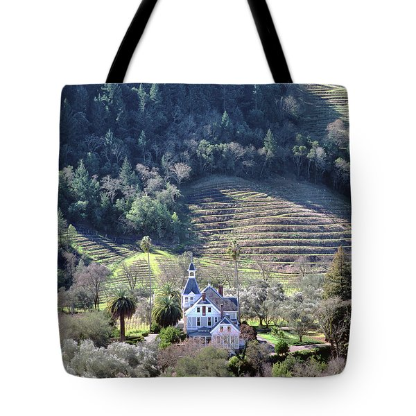 6b6312 Falcon Crest Winery Grounds Tote Bag