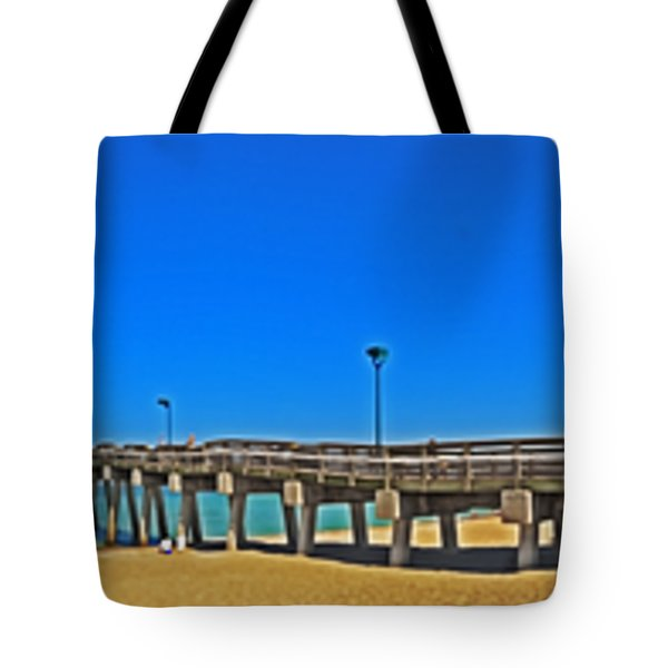 6x1 Venice Florida Beach Pier Tote Bag
