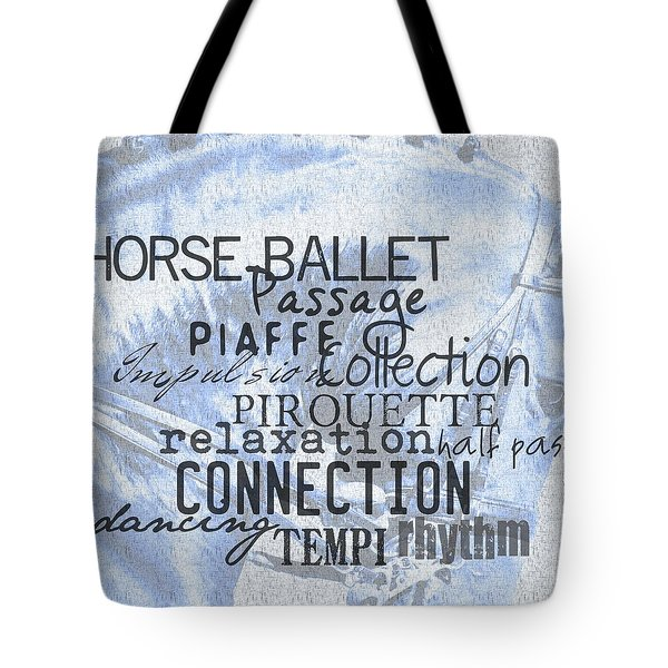 Be Equestrian Blue Tote Bag