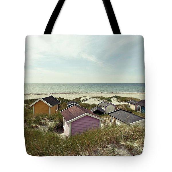 Beach Houses And Dunes Tote Bag
