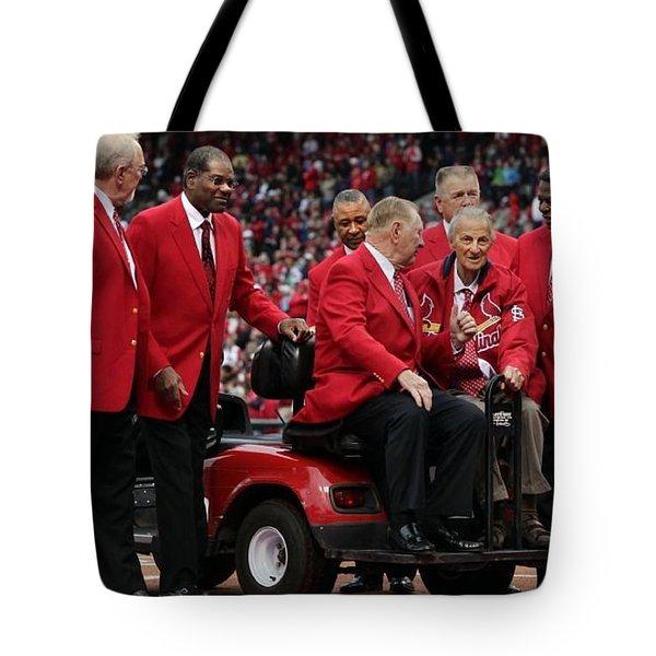 7 Cardinal Hall Of Famers Tote Bag