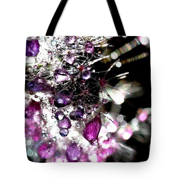 Crystal Flower Tote Bag by Sylvie Leandre