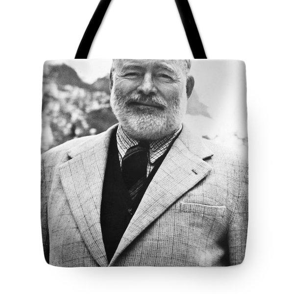 Ernest Hemingway Tote Bag by Granger