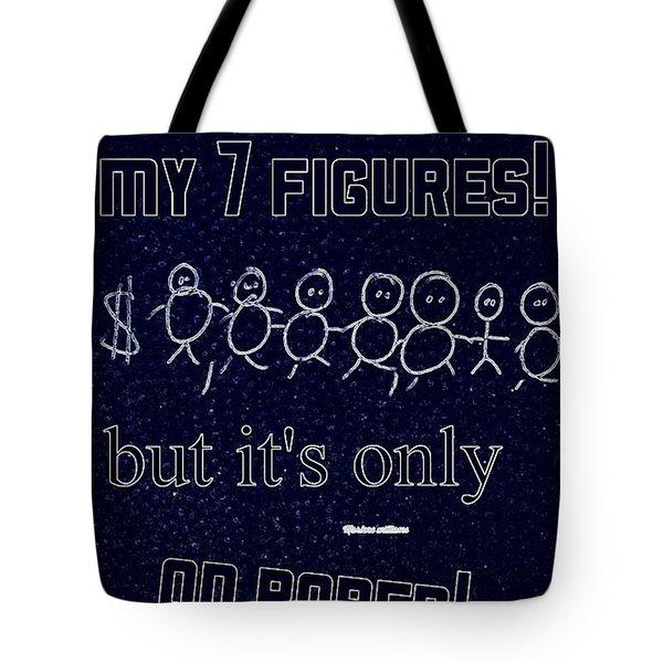 7 Figures Tote Bag